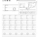 Letter E Writing Practice Worksheet   Free Kindergarten English | Letter E Printable Worksheets