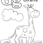 Letter G Is For Giraffe Coloring Page | Free Printable Coloring Pages | Free Printable Color By Letter Worksheets