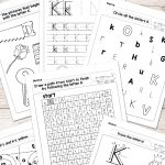 Letter K Worksheets   Alphabet Series   Easy Peasy Learners | Free Printable Letter K Worksheets