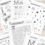 Letter M Worksheets   Alphabet Series   Easy Peasy Learners | Letter M Printable Worksheets
