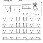 Letter M Writing Practice Worksheet   Free Kindergarten English | Letter M Printable Worksheets