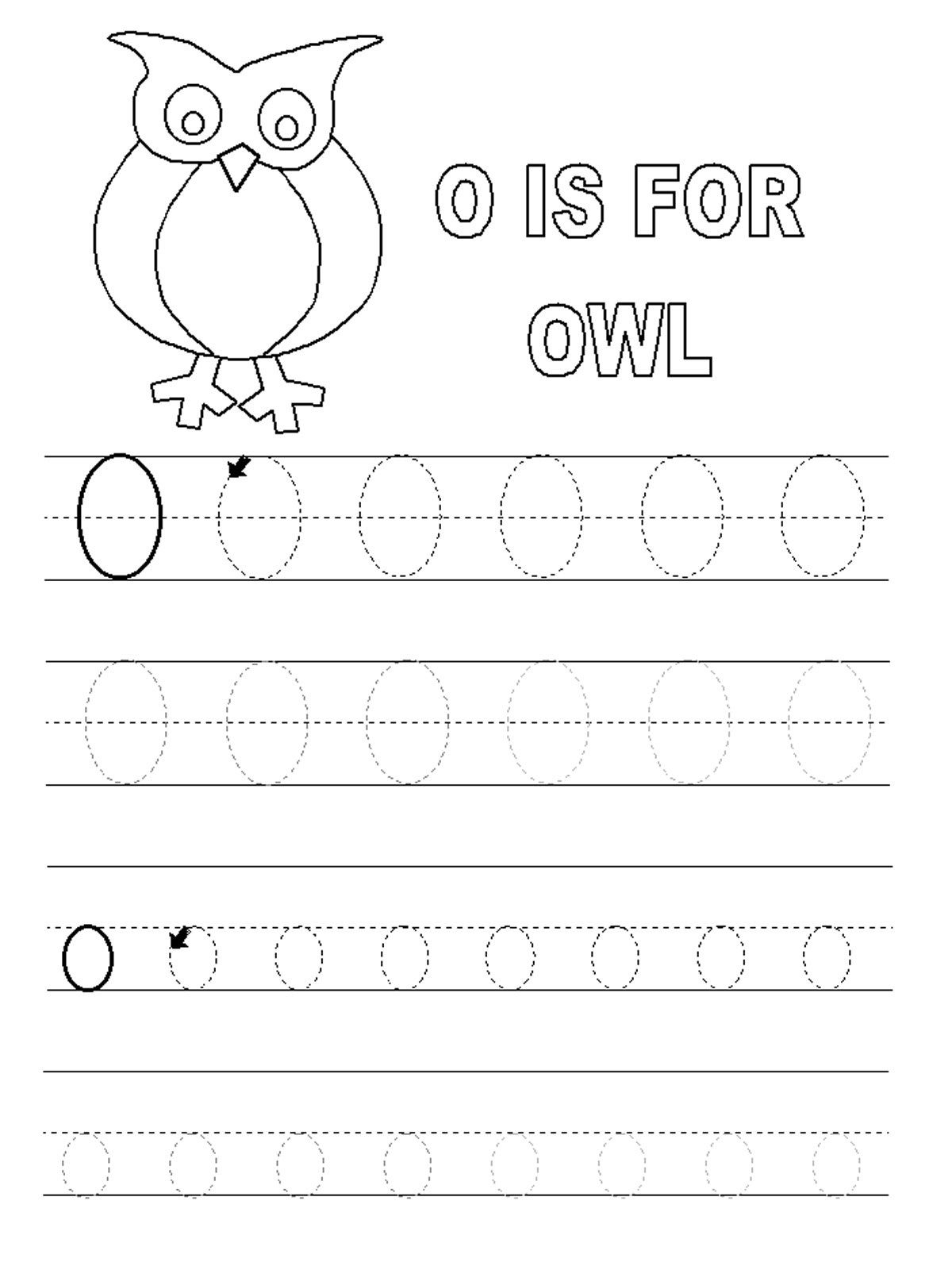 Letter O Worksheets For Preschool | Kids Worksheets Printable | Letter O Printable Worksheets