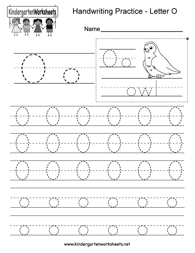 Letter O Writing Practice Worksheet - Free Kindergarten English | Letter O Printable Worksheets
