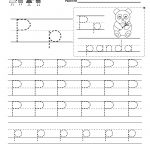 Letter P Writing Practice Worksheet   Free Kindergarten English | Free Printable Letter P Worksheets