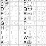 Letter Tracing Worksheet | Printable Worksheets | Kindergarten | Alphabet Worksheets For Preschoolers Printable