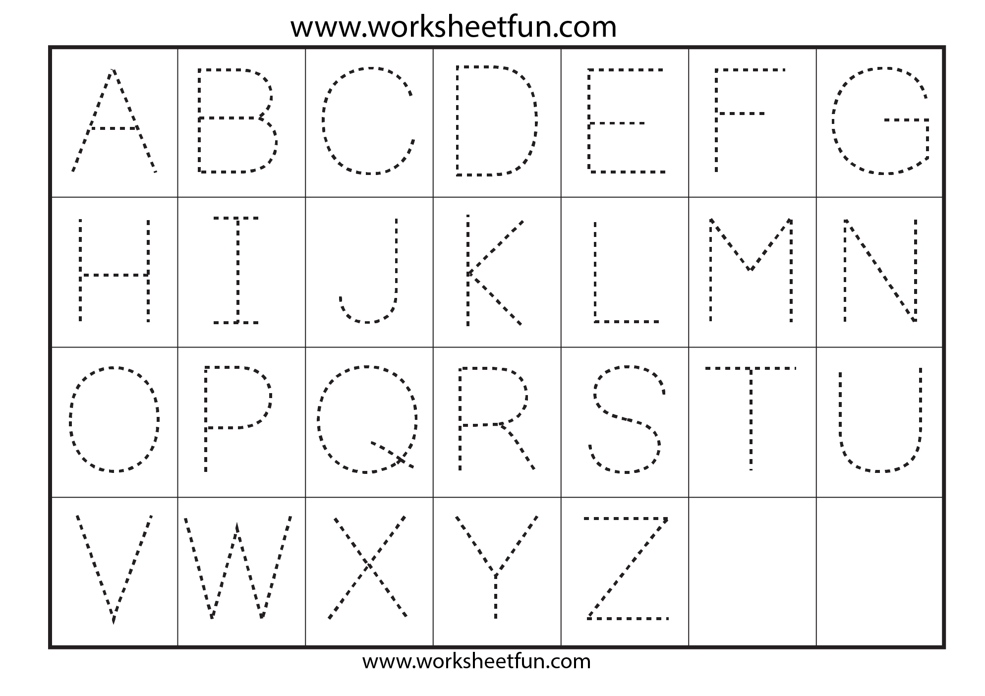Letter Tracing Worksheets | Gplusnick | Letter Tracing Worksheets Free Printable