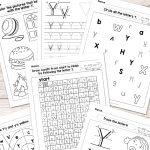 Letter Y Worksheets   Alphabet Series   Easy Peasy Learners | Printable Letter Worksheets