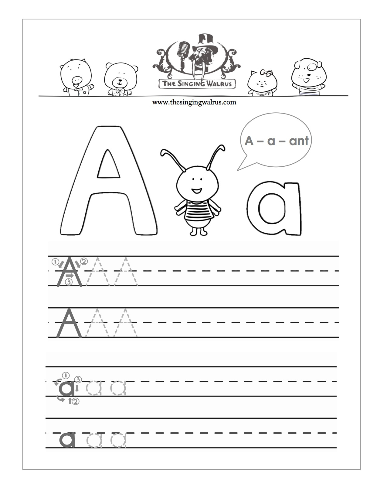 Letters Practice Sheets - Koran.sticken.co | Free Printable Letter Writing Worksheets