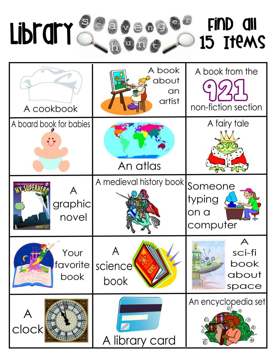 Library Activities   Reading   Library Scavenger Hunts, School   Free Printable Library Skills Worksheets