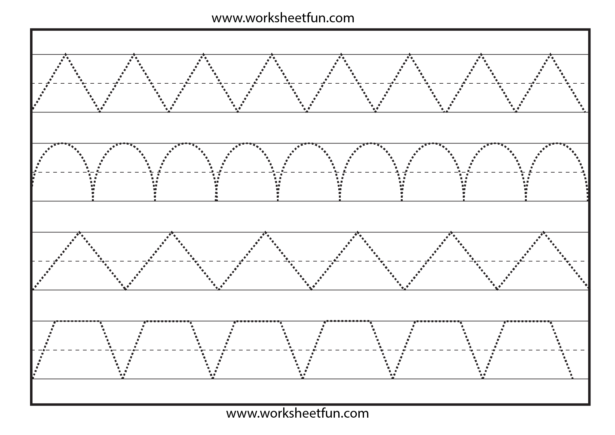 Line Tracing – 1 Worksheet / Free Printable Worksheets | Printable Preschool Worksheets