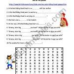 Little Red Riding Hood   Esl Worksheetduyguymn | Little Red Riding Hood Worksheets Printable