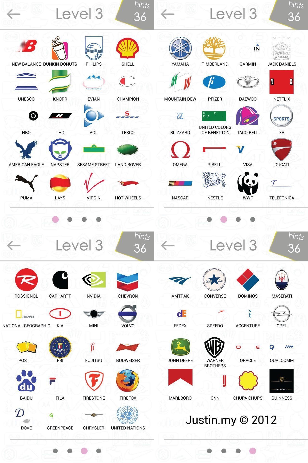 Logos-Quiz-Answers-Level-3 | Random | Logo Quiz Games, Logo Answers | Printable Logo Quiz Worksheet