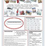 London Tour Vocabulary Exercises Worksheet   Free Esl Printable | London Worksheets Printable