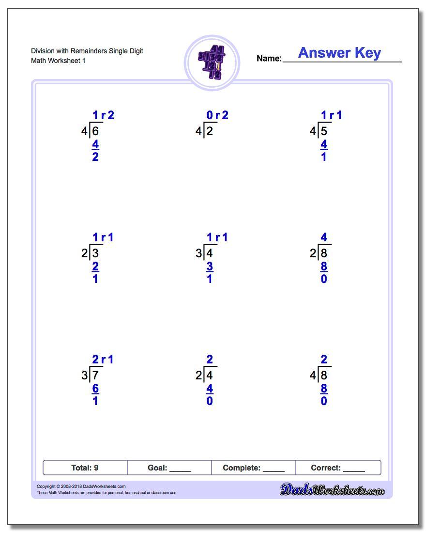 Long Division Worksheets | 4Th Grade Division Printable Worksheets