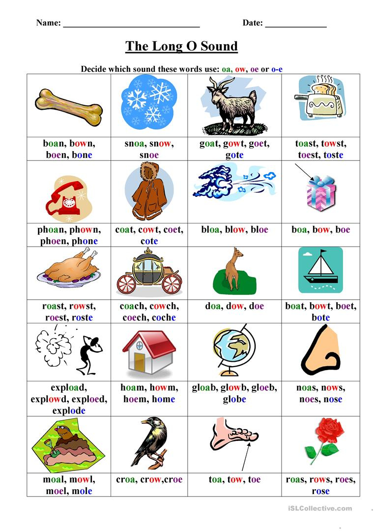 Long O Worksheet Worksheet - Free Esl Printable Worksheets Made | Short O Worksheets Printable