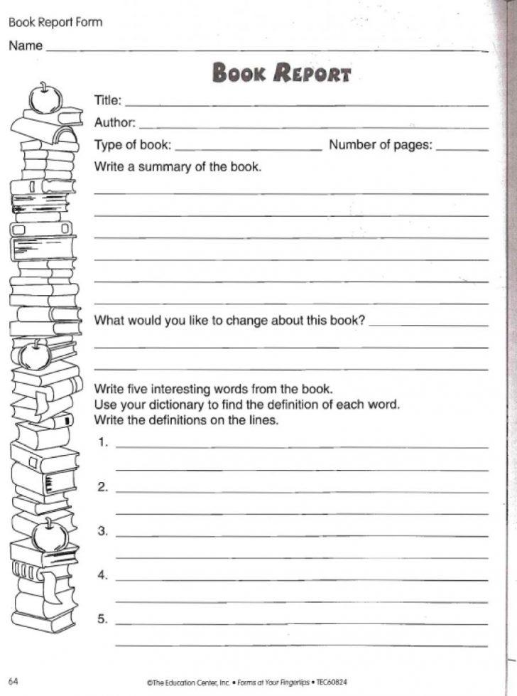 Printable Book Report Worksheets
