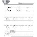 "Lowercase Letter ""e"" Tracing Worksheet   Doozy Moo | Letter E Printable Worksheets"