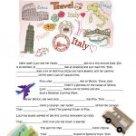 Lucy Is Going To Italy Worksheet   Free Esl Printable Worksheets | Italian Worksheets For Beginners Printable