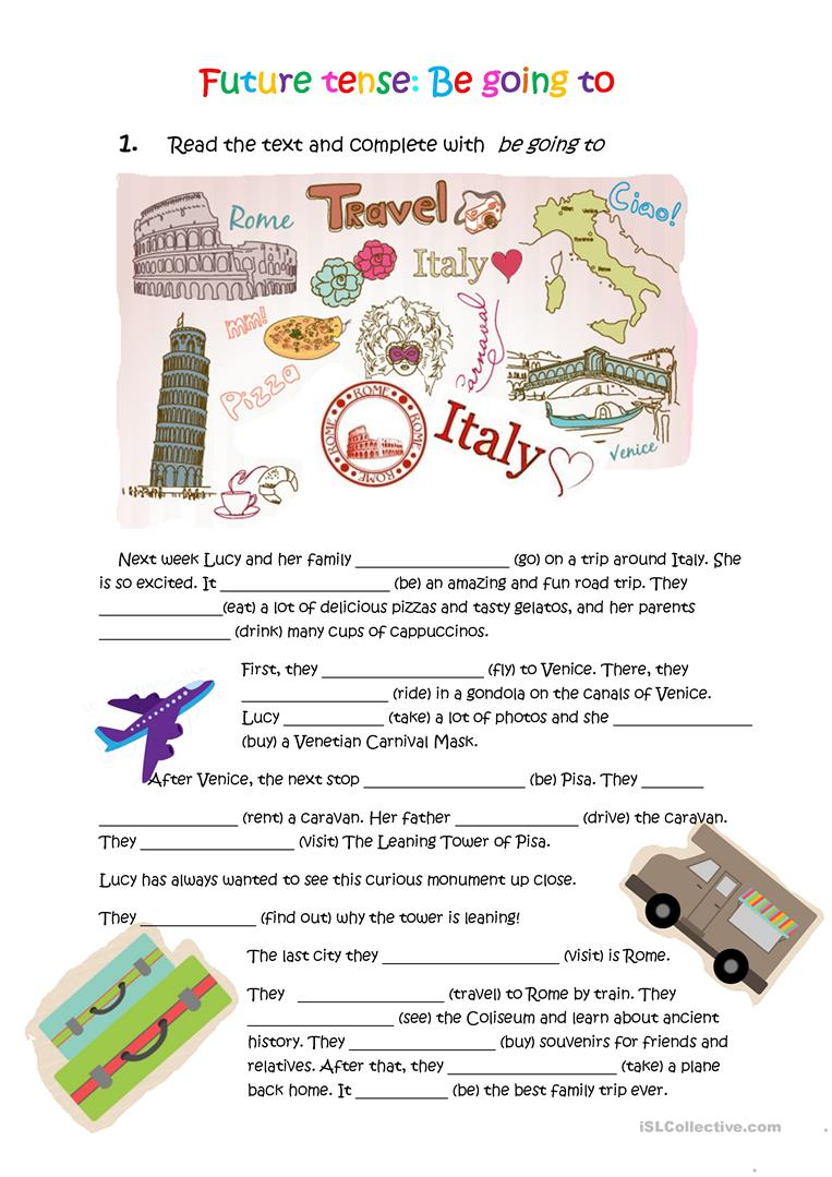 Lucy Is Going To Italy Worksheet - Free Esl Printable Worksheets | Italian Worksheets For Beginners Printable