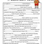 Mad Libs Basketball Game | Teaching Esl | Basketball Games For Kids | Funny Mad Libs Printable Worksheets