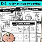 Magic E Worksheets ~ Printable No Prep | Reading And Writing | Pinterest | Silent E Printable Worksheets