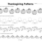 Making Patterns: Thanksgiving Style (Free Worksheet!) | Squarehead | Printable Thanksgiving Worksheets Kindergarten