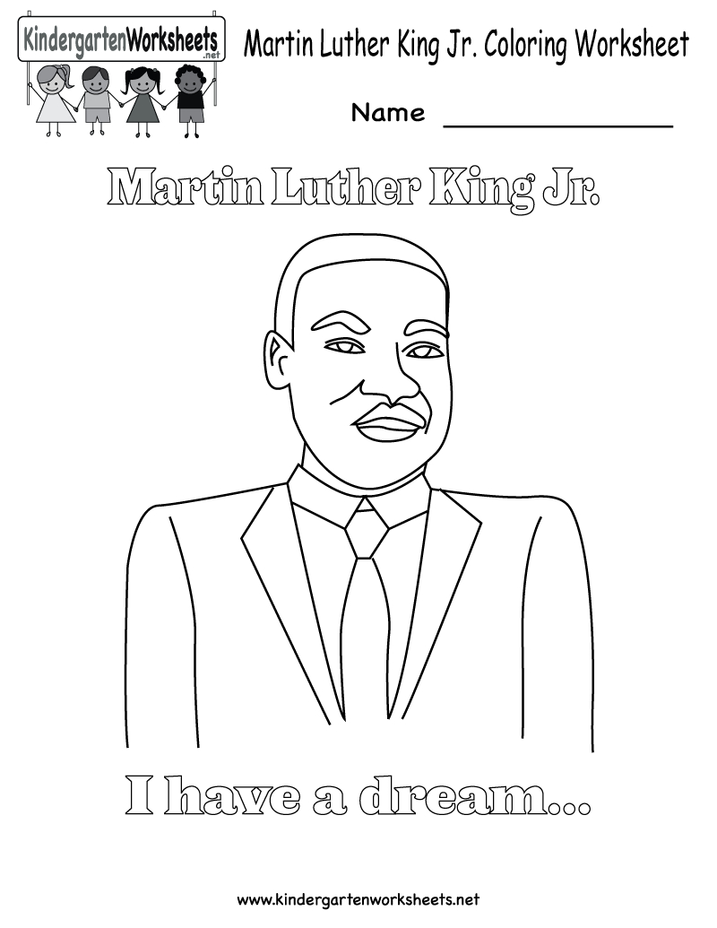 Martin Luther King Jr Coloring Pages | Martin Luther King Coloring | Free Printable Martin Luther King Worksheets For Kindergarten