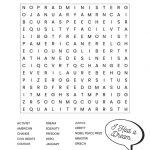 Martin Luther King Jr. Free Printable Word Search Worksheet | Hard Word Searches Printable Worksheets
