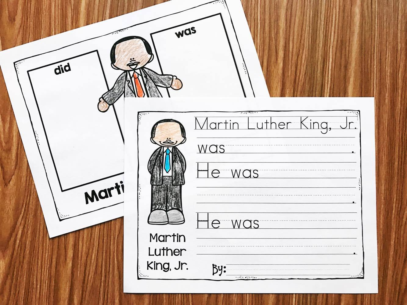 Martin Luther King Kindergarten Printables - Simply Kinder | Free Printable Martin Luther King Worksheets For Kindergarten