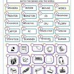 Match The Computer Parts Worksheet   Free Esl Printable Worksheets   Parts Of A Computer Worksheet Printable