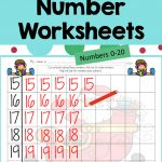 Math Number Writing Practice 1 20 Worksheets Christmas No Prep | Printable Check Writing Worksheets