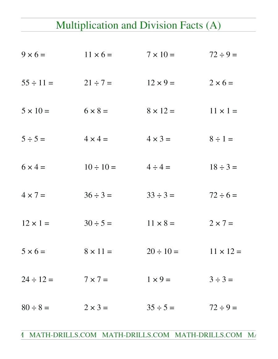 Math Worksheet: Colornumbers Ks2 Printable Sums For Children | Division Drill Worksheets Printable