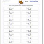 Math Worksheet: Fraction Practice Sheets Free Addition Worksheets | Free Printable 4Th Grade Math Worksheets With Answer Key