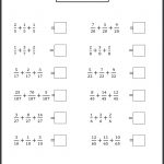 Math Worksheet: Fun Math Activities For First Grade Rational Numbers | Free Printable First Grade Fraction Worksheets