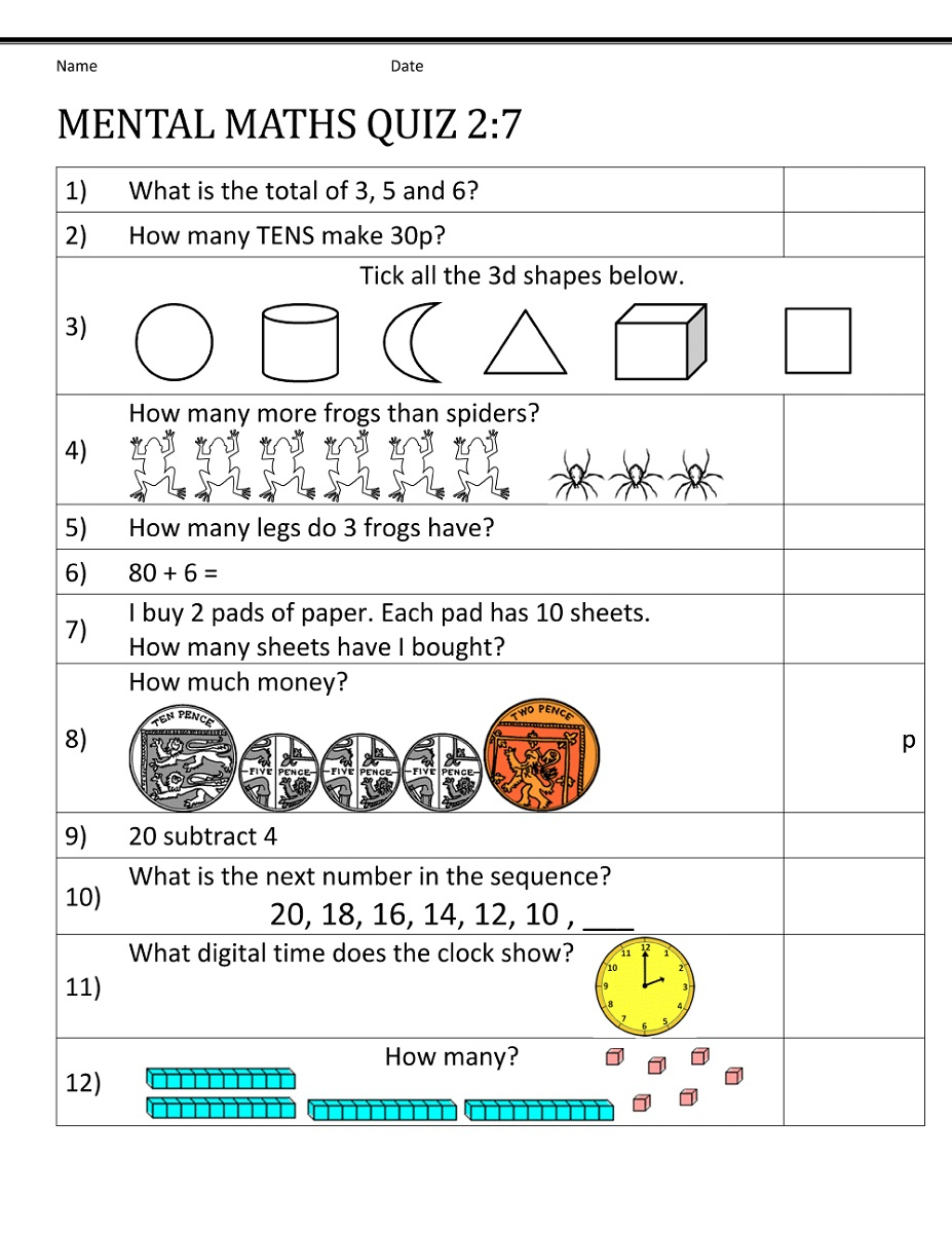 Math Worksheet: Mathematics Trigonometry Algebra Equation Sheet | Year 7 Worksheets Free Printable