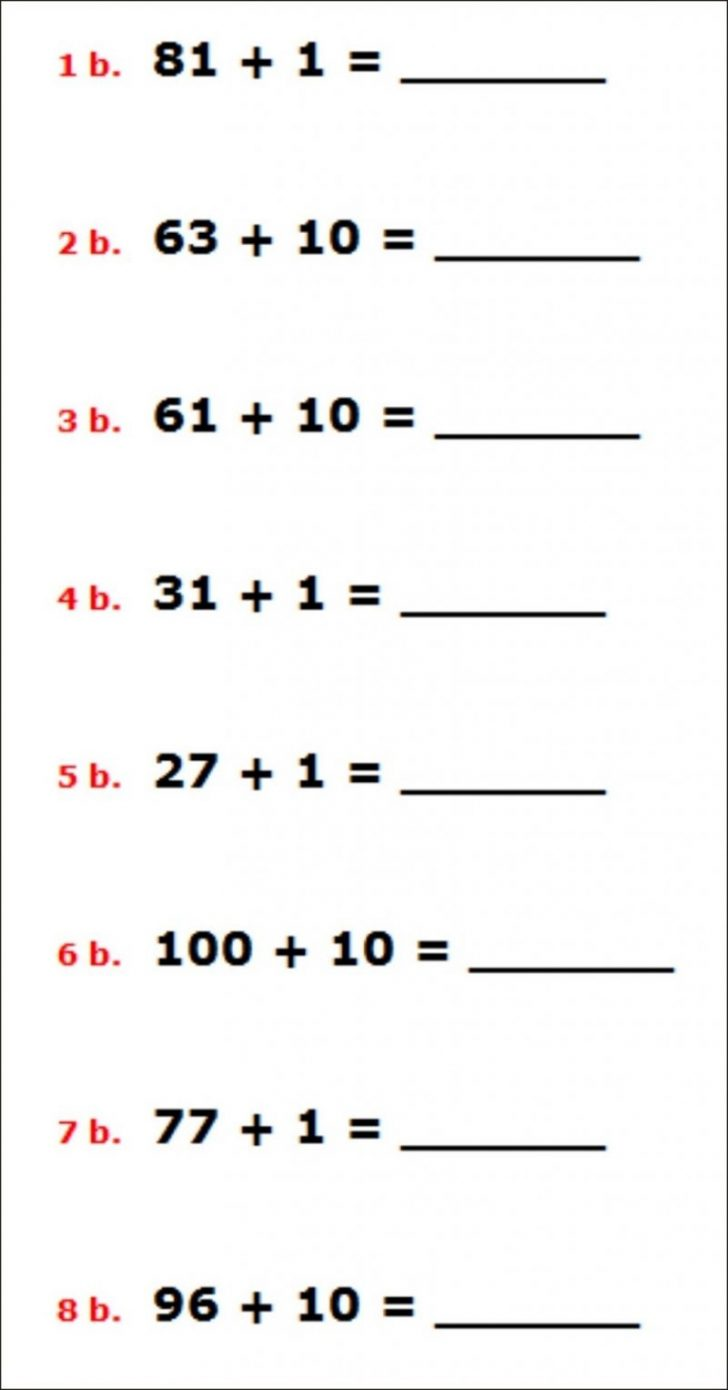 Free Printable Integer Worksheets