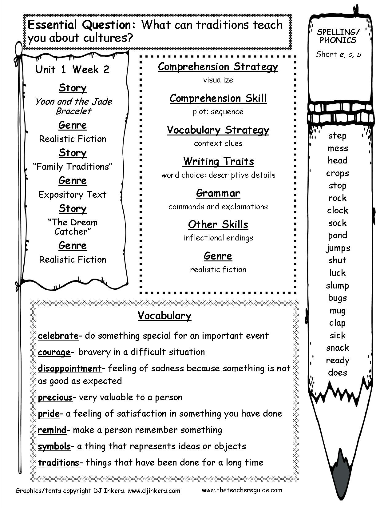 Mcgraw-Hill Wonders Third Grade Resources And Printouts | Free Printable Vocabulary Worksheets For 3Rd Grade