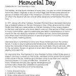 Memorial Day (Free Worksheet) | Squarehead Teachers. Repinnedsos | Memorial Day Free Printable Worksheets