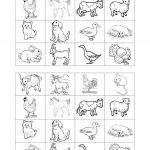 Memory Game On Farm Animals Worksheet   Free Esl Printable | Farm Animals Printable Worksheets