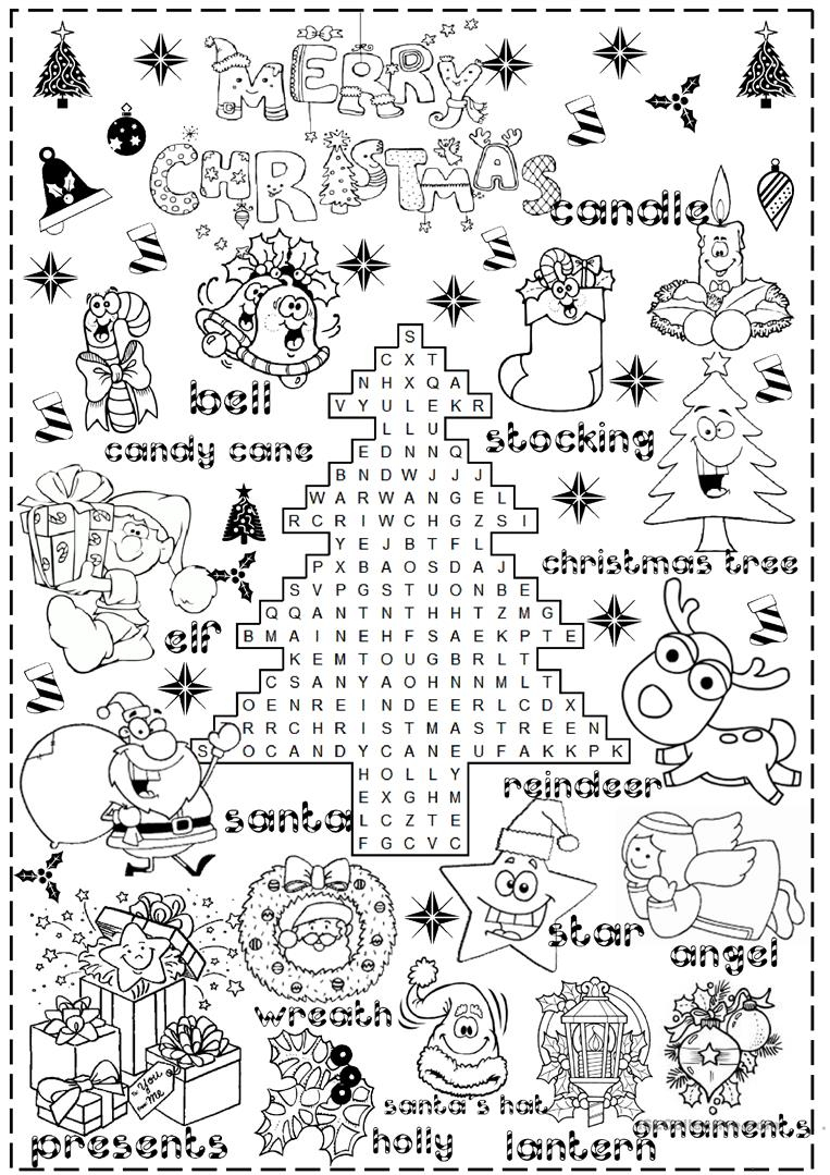 Merry Christmas Worksheet - Free Esl Printable Worksheets Made | Christmas Worksheets Printables