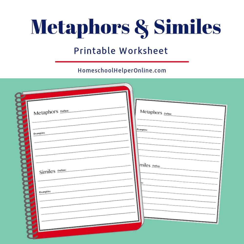 Metaphors & Similes Worksheet - Homeschool Helper Online | Foreshadowing Worksheets Printable