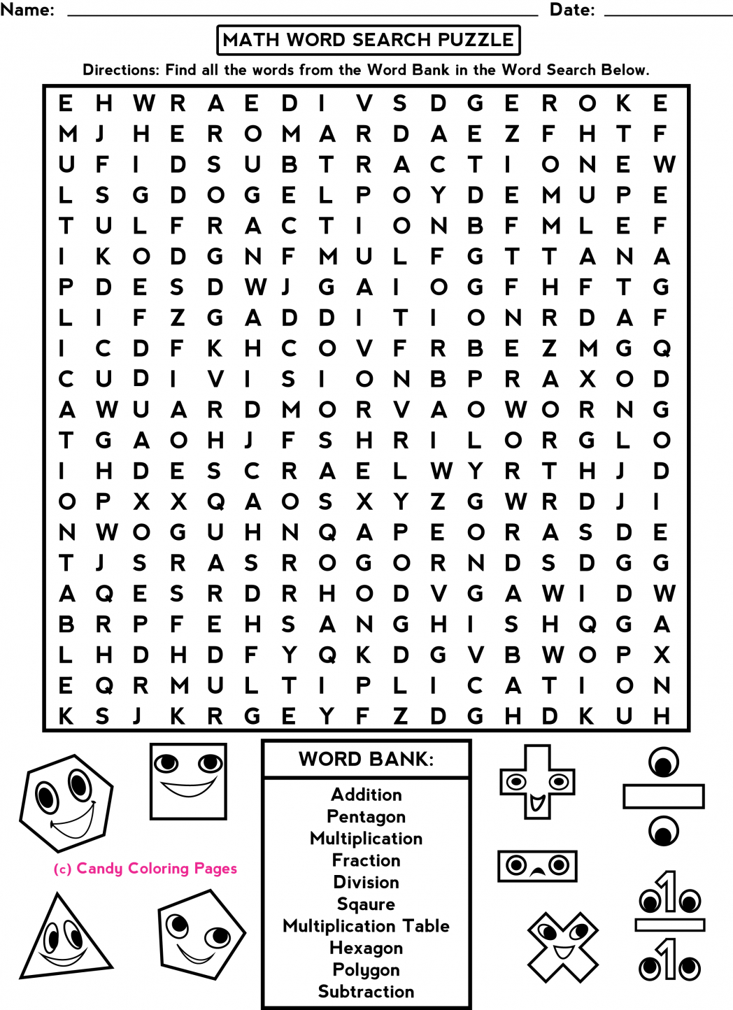Middle School Free-Printable-Halloween-Math-Worksheets-For-Pre | Printable Halloween Math Worksheets