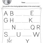 Missing Letter Worksheets (Free Printables)   Doozy Moo | Free Printable Letter Worksheets