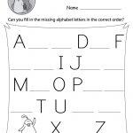 Missing Letter Worksheets (Free Printables)   Doozy Moo | Printable Letter Worksheets