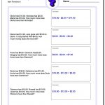 Money Word Problems | 3Rd Grade Multiplication Word Problems Worksheets Printable