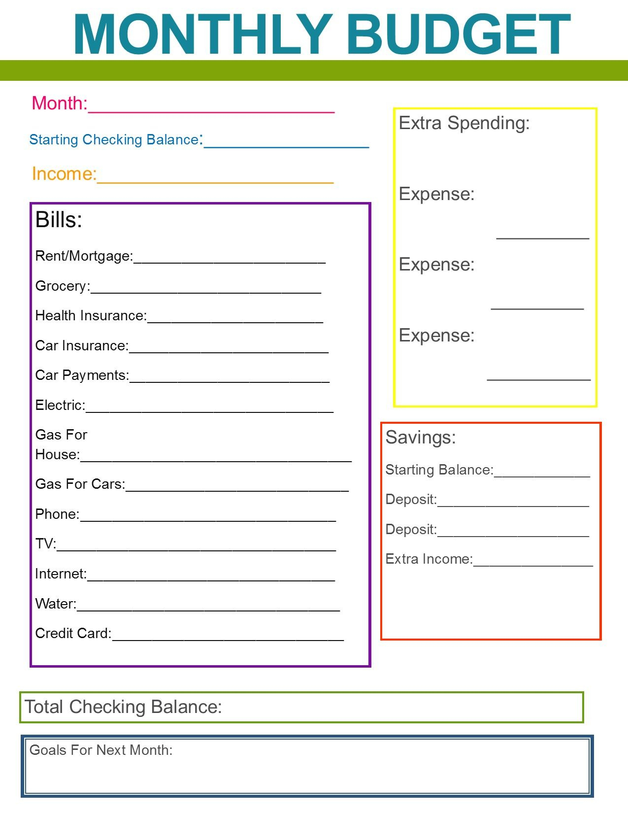 10 Budget Templates That Will Help You Stop Stressing ...