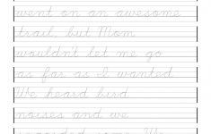 Free Printable Cursive Writing Worksheets For 4Th Grade