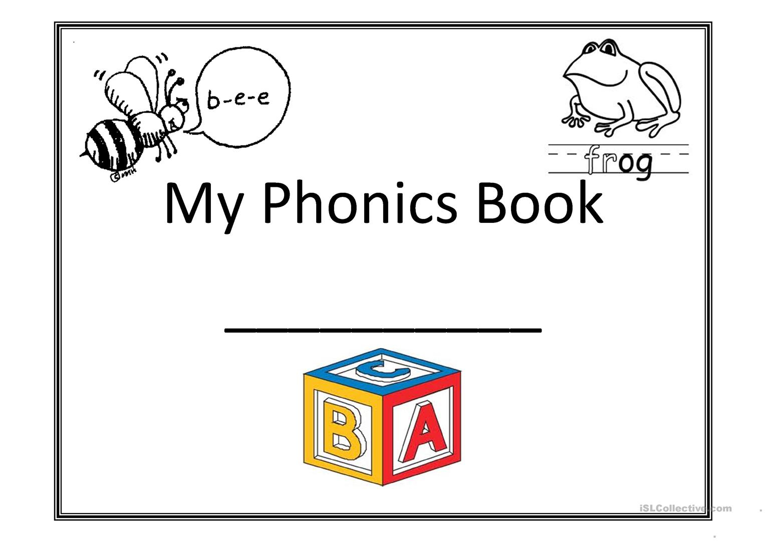 My Phonics Book Worksheet - Free Esl Printable Worksheets Made | Short A Printable Worksheets