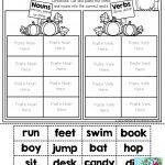 Nouns And Verbs (Sorting) Tons Of Fun Printables! | Write~Nouns | Free Printable Verb Worksheets For Kindergarten