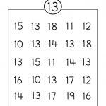 Number 13 Worksheet Circle | Grade R Activities | Number Worksheets | Free Printable Number Worksheets
